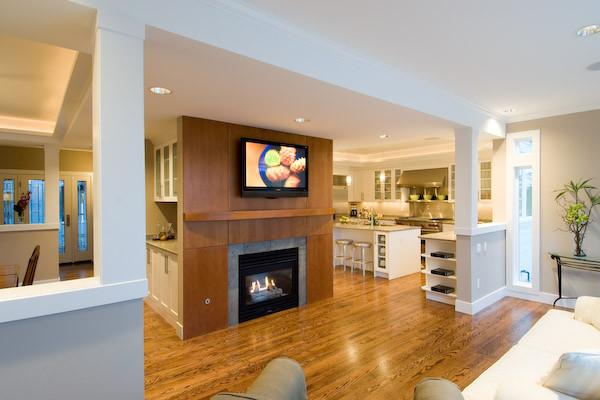 remodel - living / kitchen kitchen