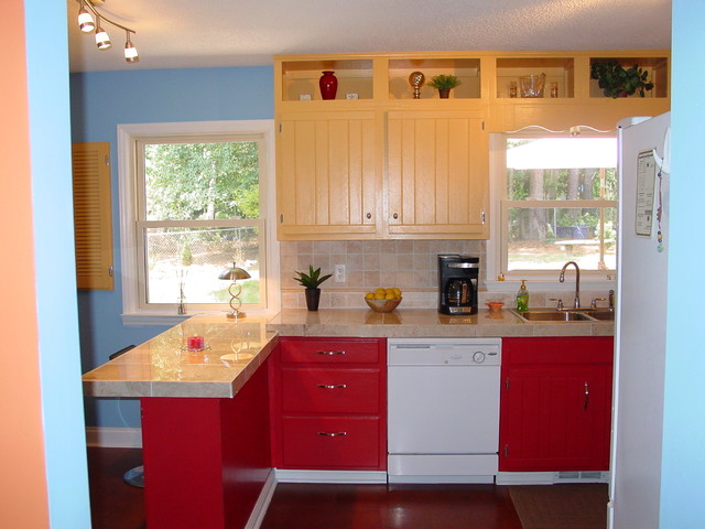 Remodel of 1970 split level traditional kitchen for 1970 s split level remodel