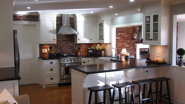 Remodel of standard track home to bring function and character traditional-kitchen