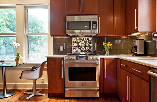 Remodeled kitchen for a 1920 39 s home modern kitchen for Modern 1920 s kitchen