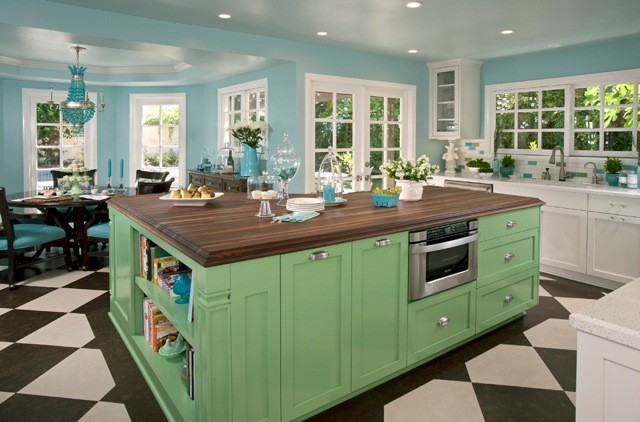 Remodeled Kitchen with Retro Flair! - Eclectic - Kitchen - orange ...