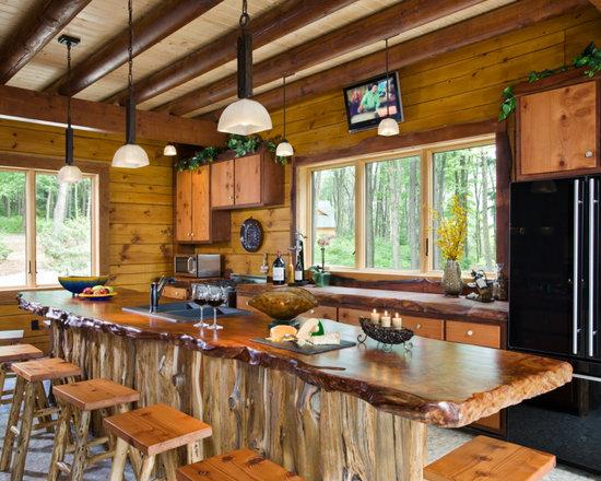 Rustic Galley Kitchen Kitchen Design Ideas Photos