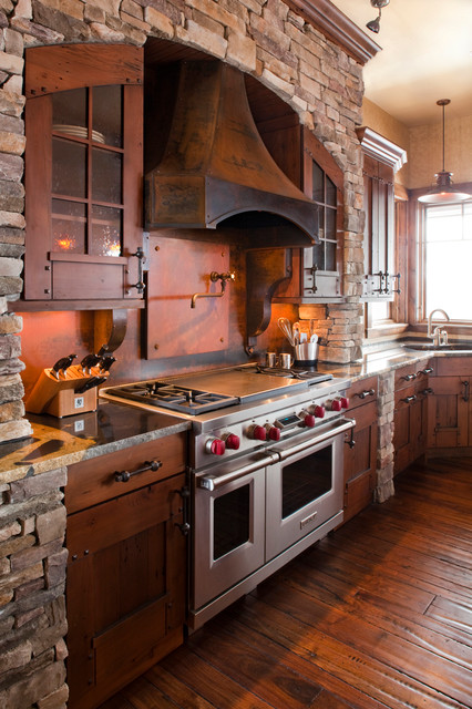 Rendezvous rustic kitchen denver by terra firma for Custom rustic homes