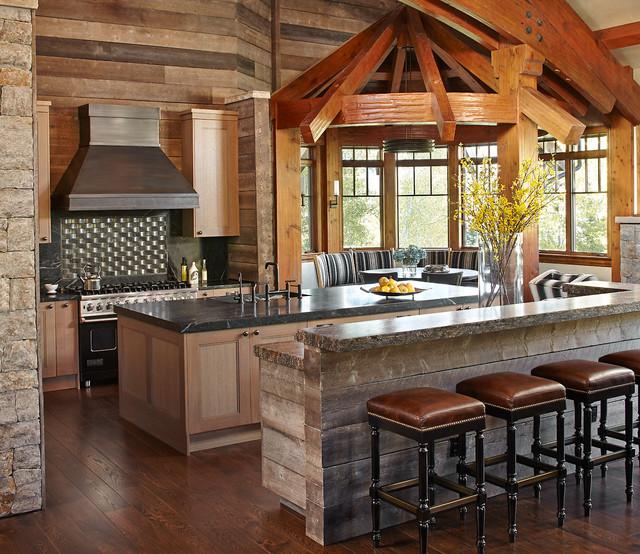 Rustic Kitchen: Renovated Mountain Retreat