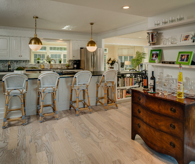 Renovated Transitional Home Modern Kitchen by Renee