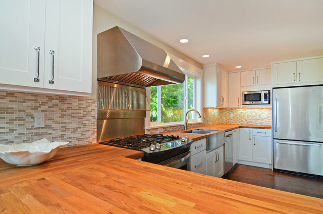 Renovated Waterfront Home traditional-kitchen