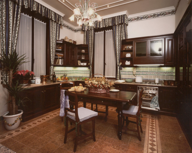 Renovation and refit of an Italian Period Villa (early '900) traditional-kitchen