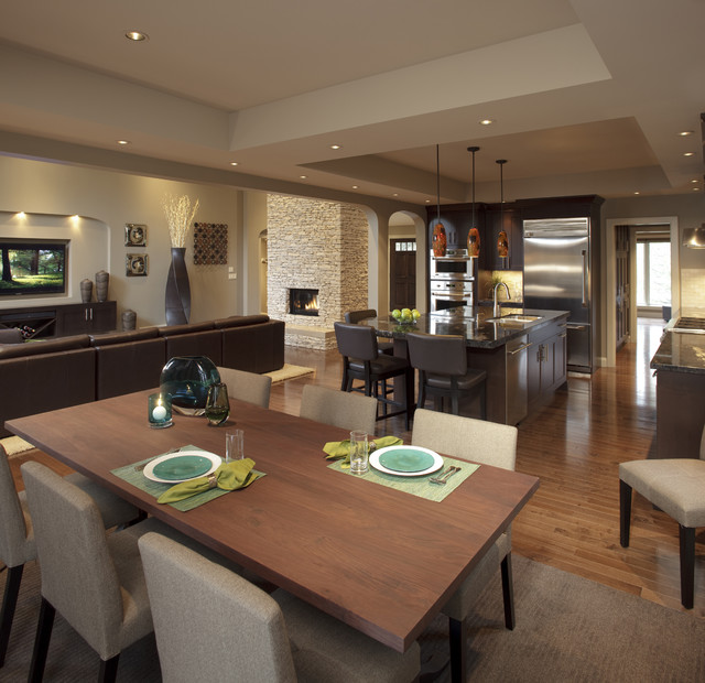 Design For Living Room With Open Kitchen Houzz Home Design: Renovation In Pump Hill By Pinnacle, Calgary, Alberta