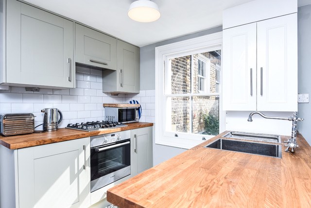 Flat Roof Kitchens : Renovation of a one bed duplex flat with roof terrace