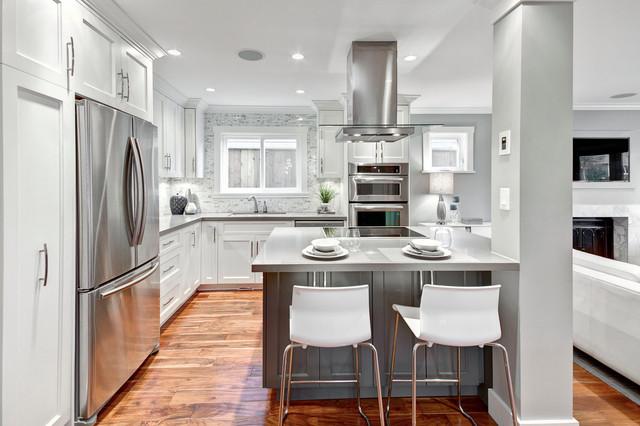 Renovation Project in Kitsilano contemporary-kitchen