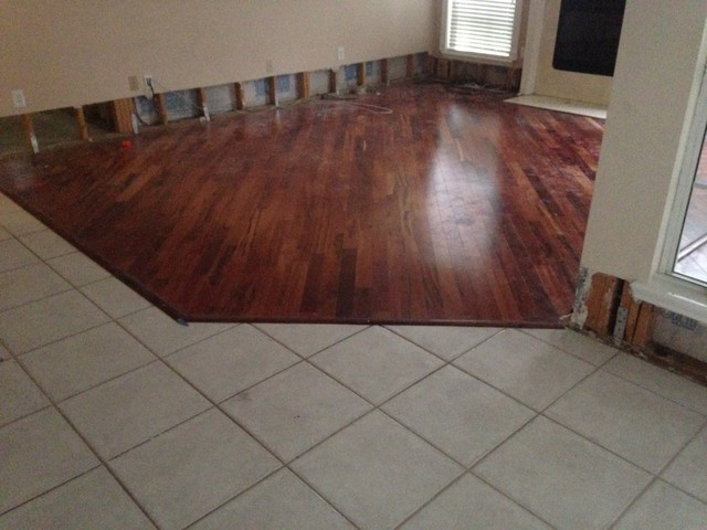 Replacing Water Flooded Wood Flooring In South
