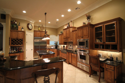 What color is the stain on cabinets? Thanks