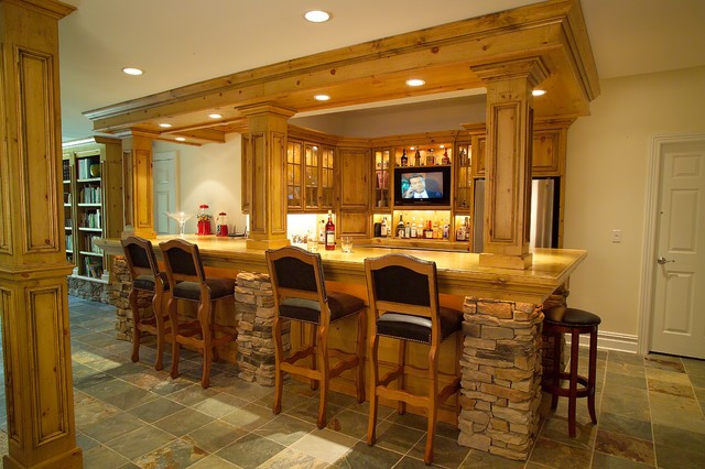 Residential Bars - Traditional - Kitchen - newark - by Platinum Designs, LLC - Ian G. Cairl ...