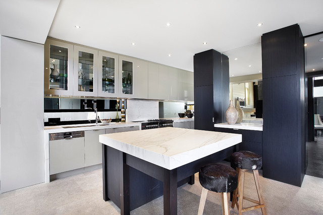 Residential Church Conversion Contemporary Kitchen