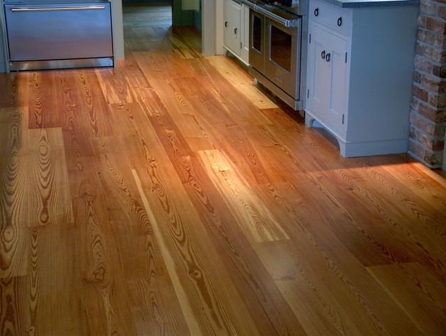 Residential Kitchen with Heart Pine Flooring modern-kitchen