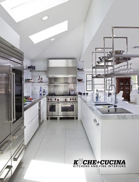 Restaurant Style Clean & Modern Kitchen - Modern - Kitchen - newark - by Kuche+Cucina