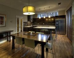 Reston European Kitchen - Dining Table contemporary-kitchen