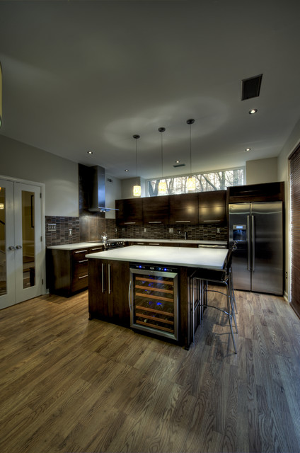 Reston European Kitchen   Wine Cooler Contemporary Kitchen