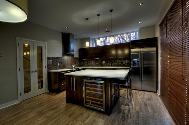 Reston European Kitchen - Wooden Shades contemporary-kitchen
