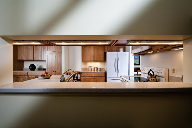 Reston kitchen wall opening contemporary kitchen for Open wall in kitchen