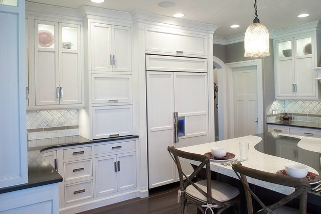 Restoration hardware style home transitional kitchen cleveland by mullet cabinet - Factory seconds kitchen cabinets ...