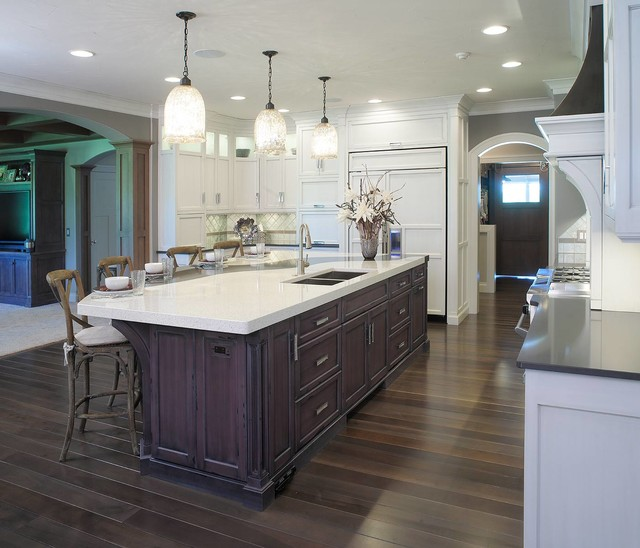 Transitional Kitchens With White Cabinets: Restoration Hardware Style Home