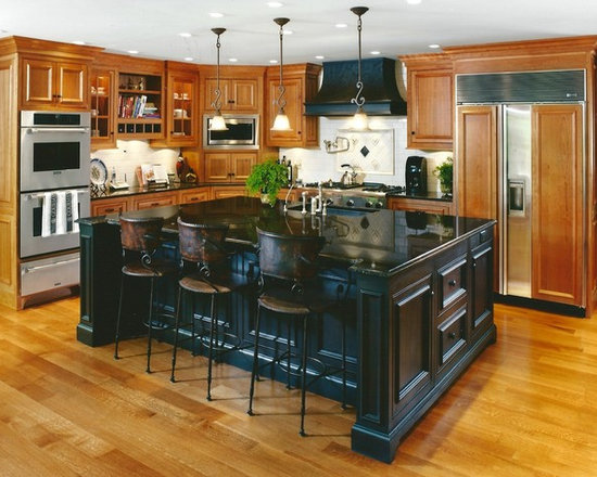Home improvement ideas on pinterest kitchen craft black for Traditional home kitchen ideas