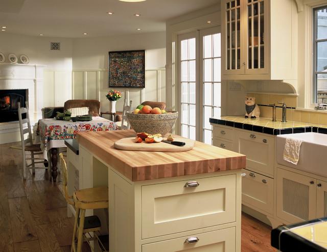 Retro Kitchen & Bath in Ross traditional-kitchen