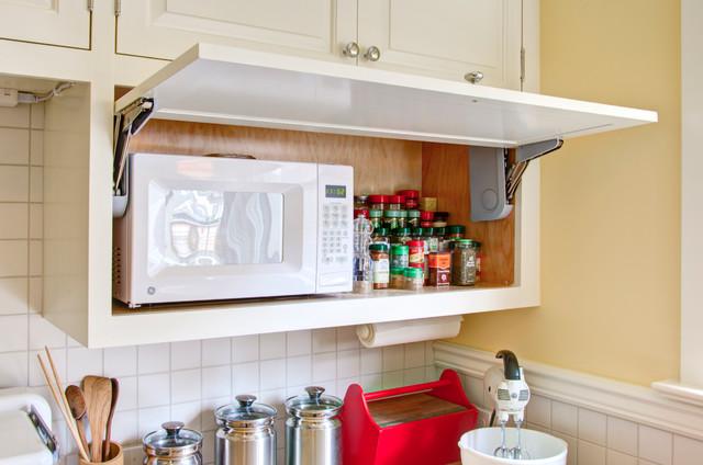 10 soluciones para encajar el microondas en la cocina for Muebles de cocina para microondas