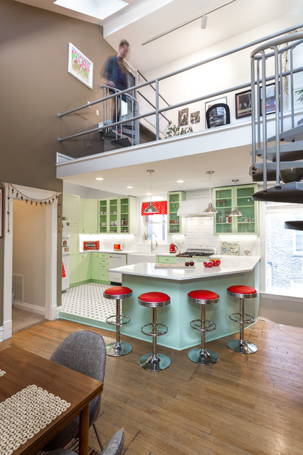 Retro Kitchen Remodel in Humboldt Park Chicago - Traditional ...