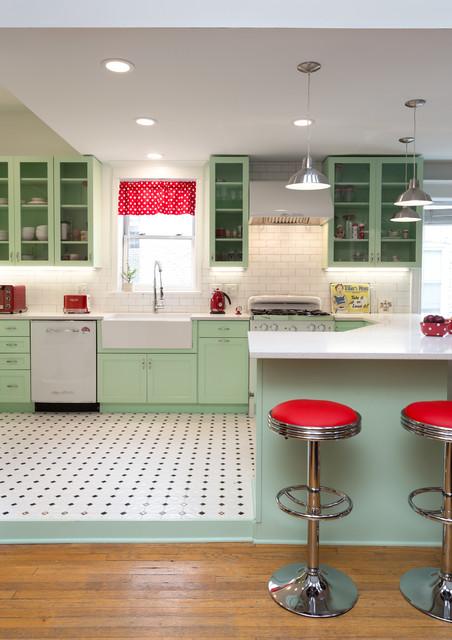 Kitchen of the Week: A Minty Green Blast of Nostalgia