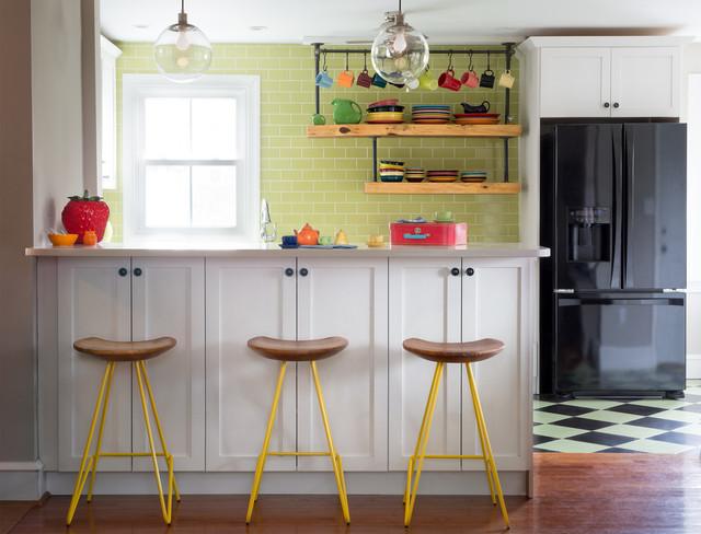 Retro Modern Farmhouse Mashup Kitchen And Bath Renovation