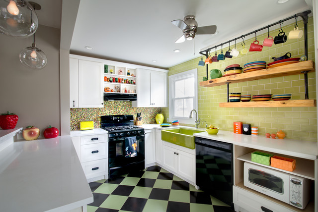 Retro/Modern/Farmhouse Mashup Kitchen And Bath Renovation Farmhouse Kitchen