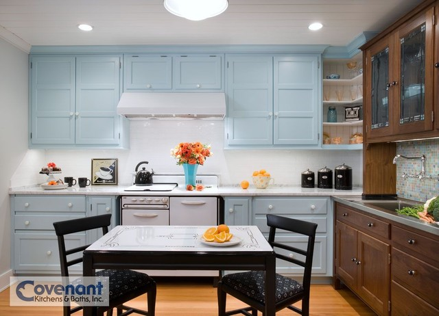 Retro Blue Kitchen craftsman-kitchen