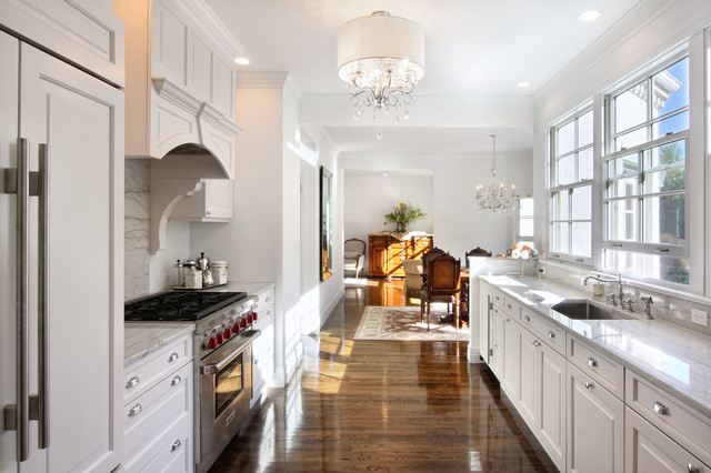 White Galley Kitchen | Houzz