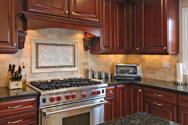 Rich Cherry Kitchen Traditional Kitchen Chicago By Ddk Kitchen Design Group
