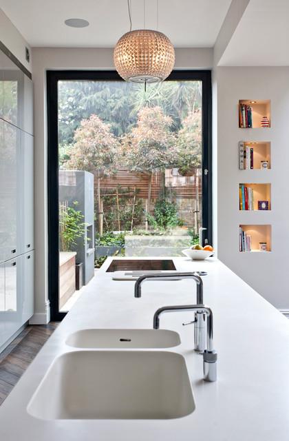 Richmond full house refurbishment modern kitchen for Kitchen ideas queensway