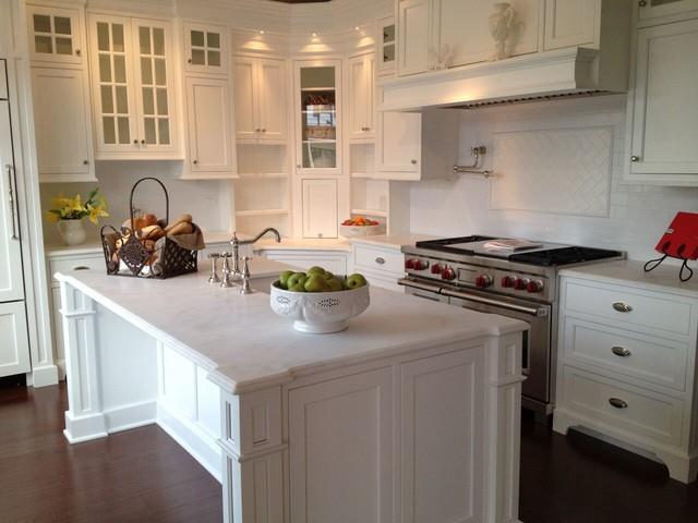 Ridgefield Cabico Beaded Inset Recessed White Kitchen Farmhouse Kitchen