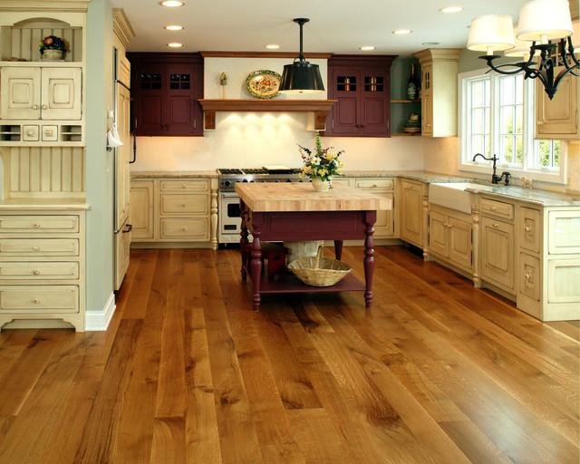 Wood Floor Installers Rift & Quartered White Oak - Farmhouse - Kitchen - Chicago ...