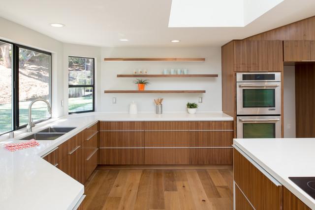 Rift Cut Walnut Kitchen Cabinets, European Kitchen Cabinets San Diego