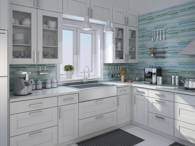 rip curl hand painted linear glass tile backsplash
