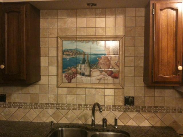 Rita broughton kitchen backsplash tile murals for Backsplash mural tiles