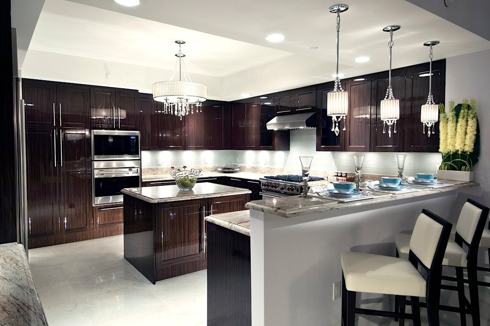 Kitchen - contemporary kitchen idea in Miami