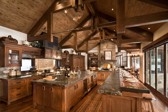 River Bend Ranch rustic-kitchen