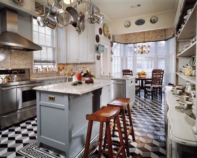 River Oaks Townhouse traditional-kitchen