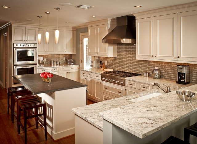 River Oaks White Kitchen Traditional Kitchen Houston