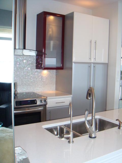 River View Condo contemporary-kitchen