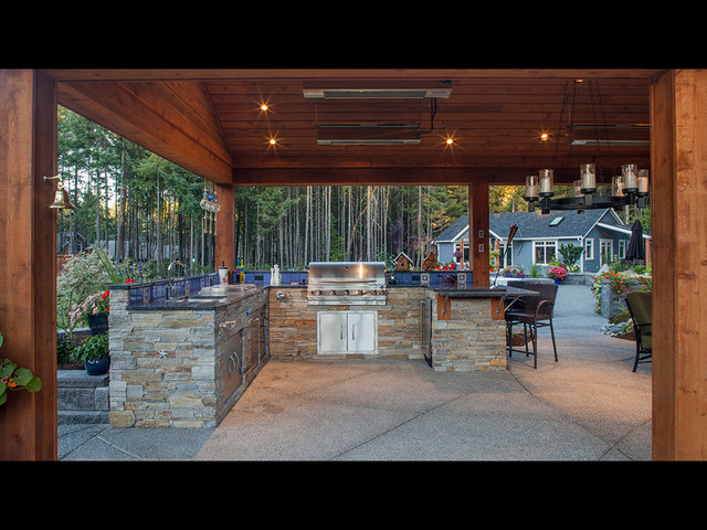 Rivers Edge Outdoor Living B Gallant Homes Nanaimo Bc Craftsman Kitchen Other By