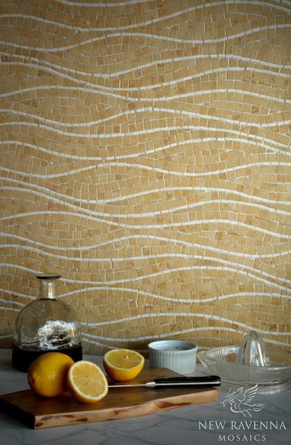 Rivulet Stone Mosaic contemporary-kitchen