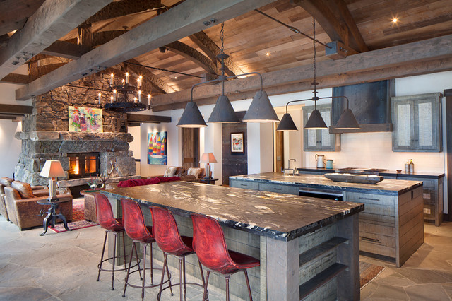 Robertson lake house rustic kitchen other by for Rustic lake house kitchens